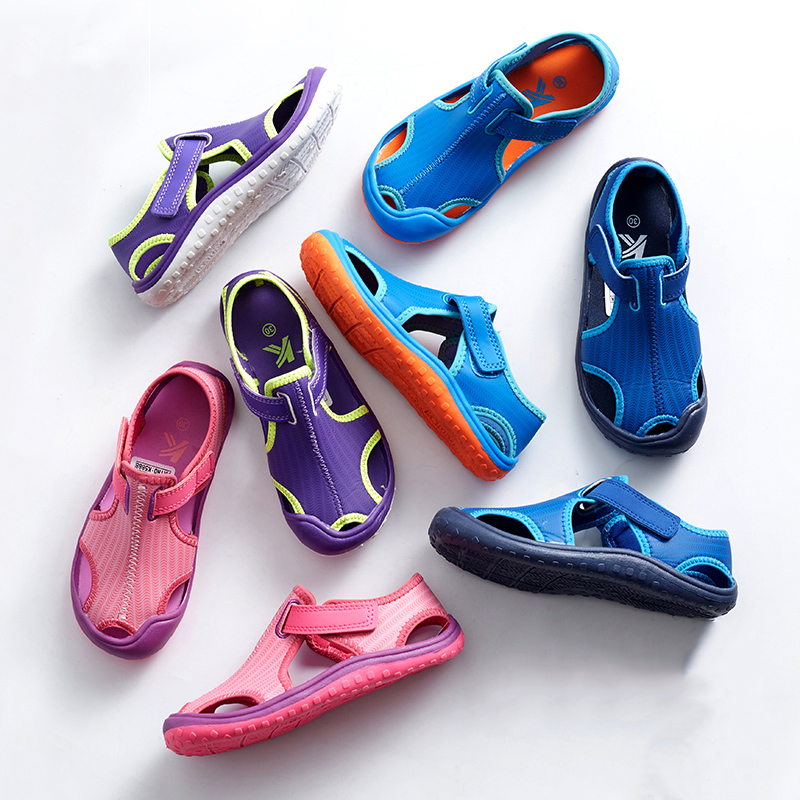 2019 Summer New Princess Sandals Children's Flat Shoes Girls Closed Toe Sandal Toddler Shoes Boys Comfort Beach Sandals