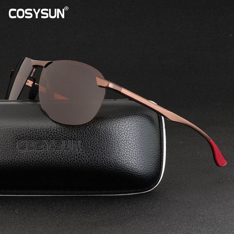 Brand Designer Men Sunglasses Polarized Sports Driving Rimless Goggles Sunglass Fishing UV400 Rimless Sun Glasses