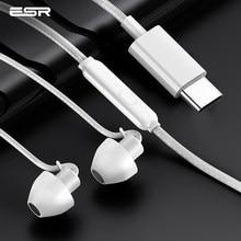ESR-Auriculares con cancelación de ruido, audífonos intrauditivos estéreo HiFi de silicona suave, con cable Jack de 3,5mm, tipo c