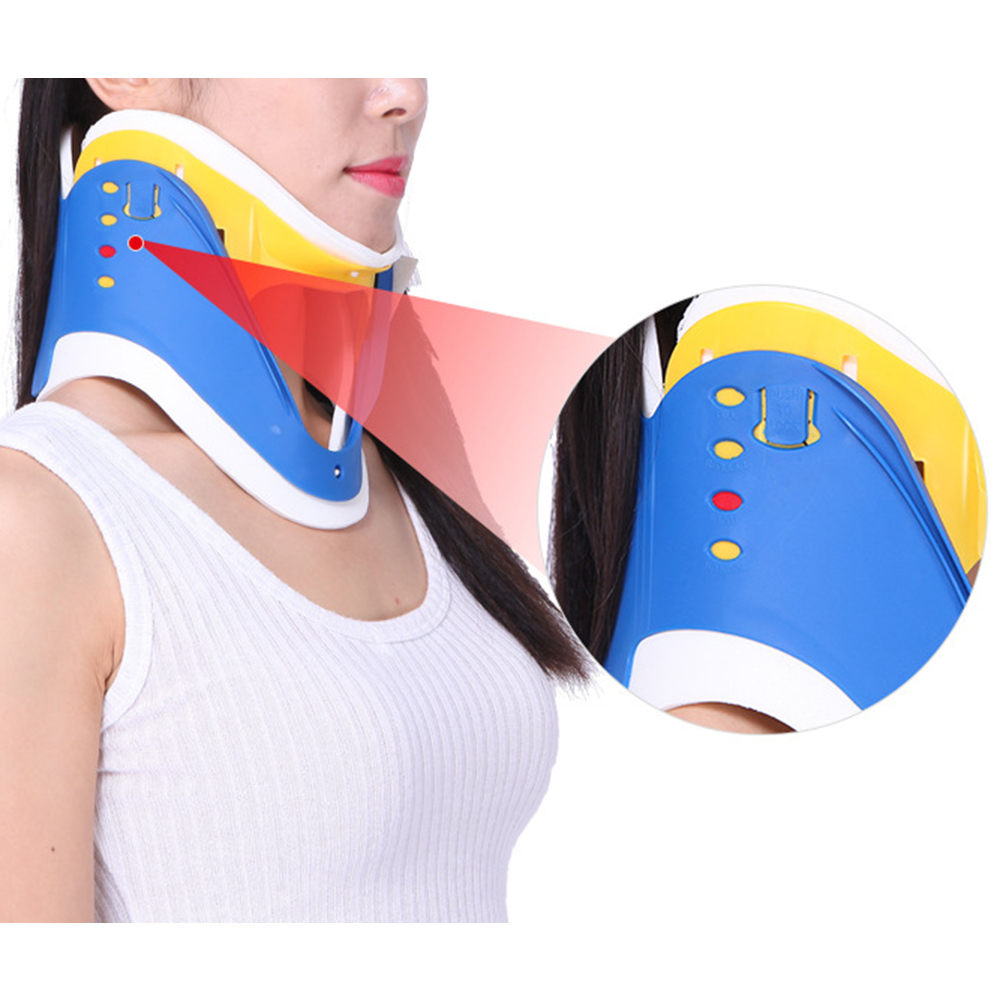 4 in 1 Breathable Neck Brace Neck Correction Repair Adjustable Cervical Spine Stretcher Pain Relief Neck Tractor Orthosis Braces(China)