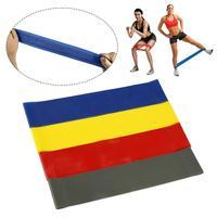 Bandas de resistencia de fuerza para entrenamiento, gomas de goma de 4 colores para Fitness, ejercicio, gimnasio, Pilates, deporte, equipo de entrenamiento
