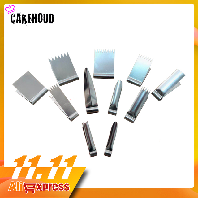 CAKEHOUD ביתי אפיית כלים נירוסטה ביסקוויטים משי פרח תבניות צבת DIY עוגת קישוט כלים מפואר קינוח עובש