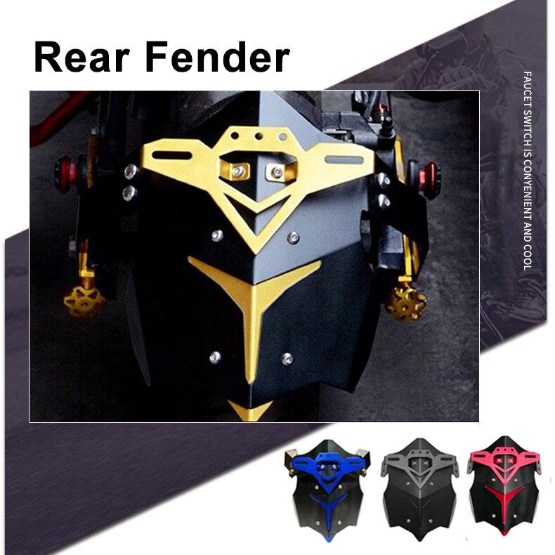Dla Yamaha MT07 MT-07 MT09 Z800 tylny błotnik błotnik Mudflap błoto Spash straż motocykl tylne OSŁONA NA czarny/niebieski/ żółty/czerwony