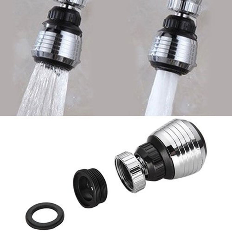 HOT 360 Degree Rotate Swivel Faucet Nozzle Filter Adapter Water Saving Tap Aerator Diffuser Bathroom Shower Kitchen Tools