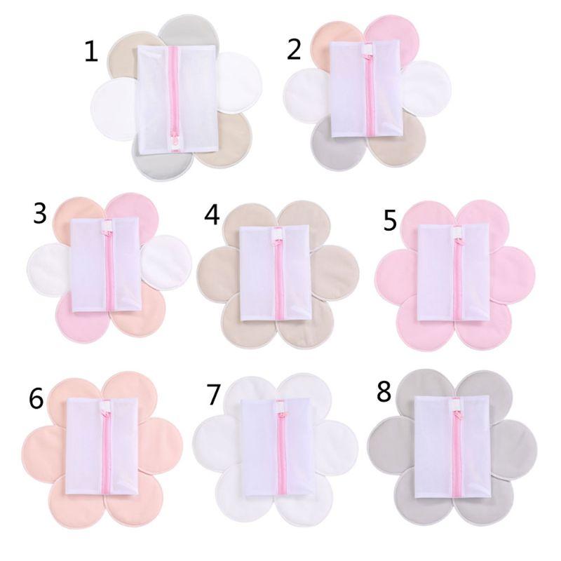 Nursing Breast Pads - Washable Breast Pads, 6 PCS (3 Paris) Organic Bamboo Nursing Pads Reusable Nursing Pads Soft Absorbent