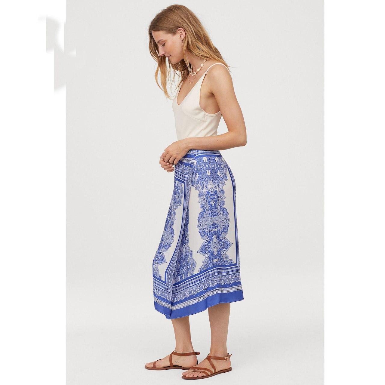 Western Style 2019 Summer New Style WOMEN'S Dress Elegant Versatile Slimming French Wrap-Style Satin Win Skirt