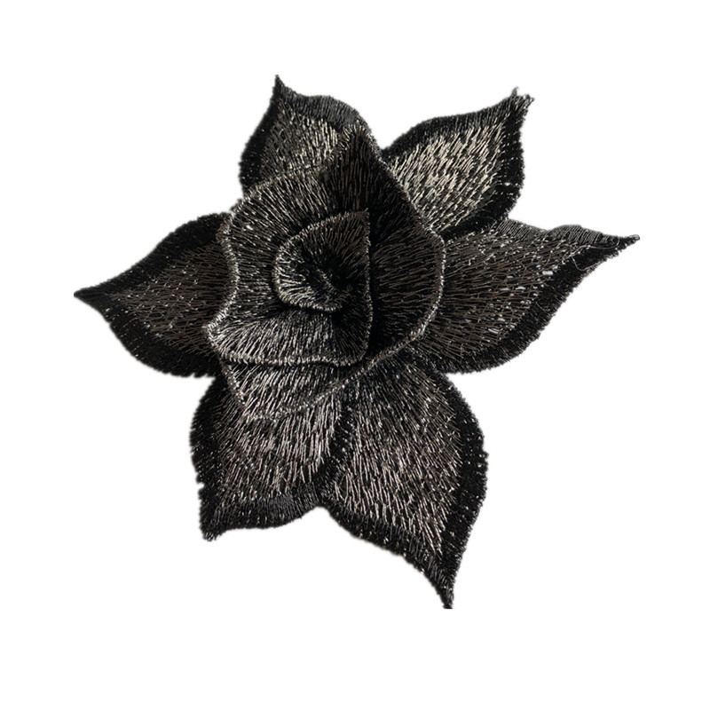 Three-dimensional Flower Embroidery Cloth Water Soluble Computer Embroidery Patch Clothing Decorative Accessories Handmade DIY