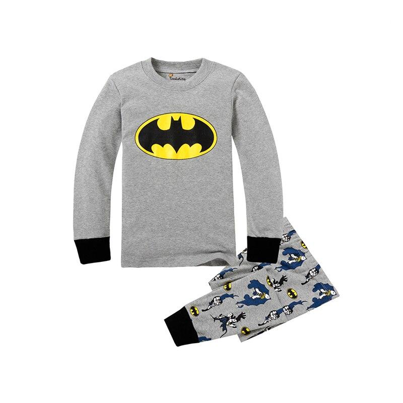Kids Boys Superhero Spiderman Batman T-Shirt Outfit Nightwear Pajamas Sleepwear