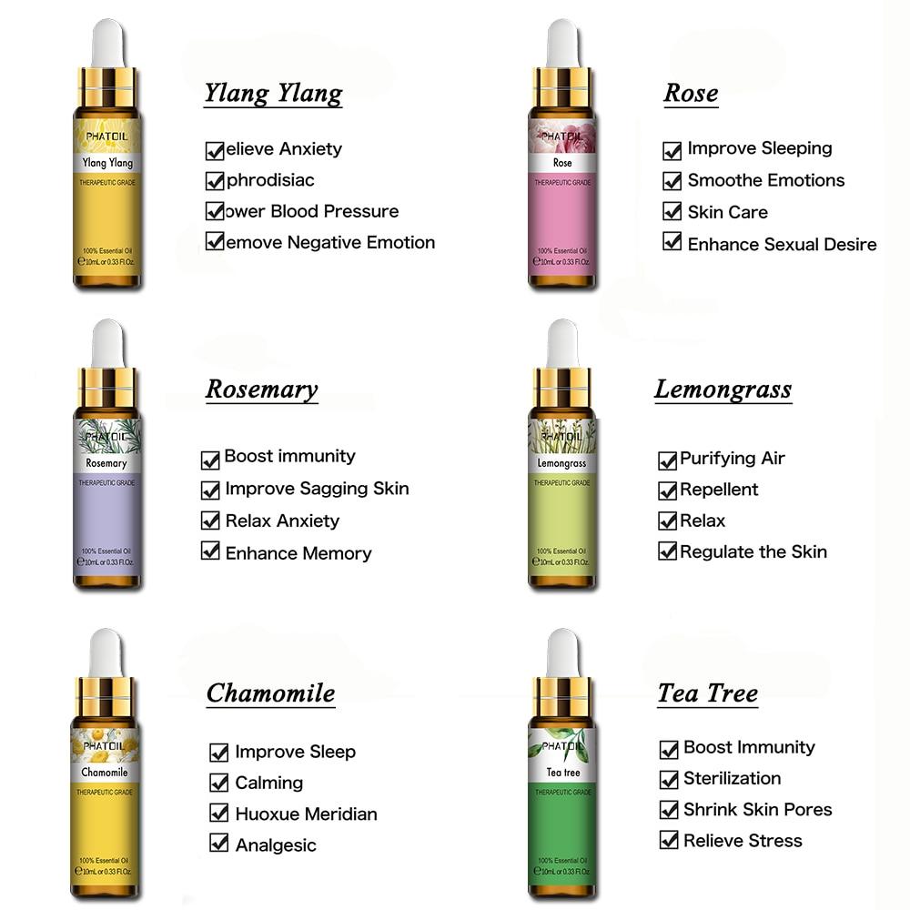10ml Lavender Eucalyptus Essential Oil Diffuser Pure Natural Essential Oils Rose Jasmine Vanilla Mint Tea Tree Oil Shea Butter-2