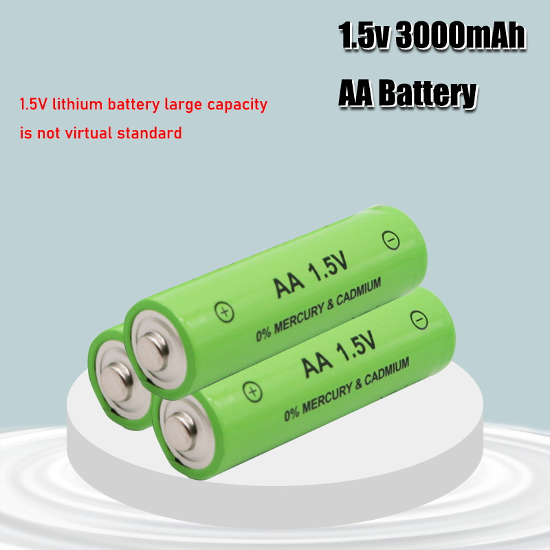 1-4 шт. новые AA перезаряжаемые батареи 1,5 в 3000 мАч щелочные батареи для дистанционного управления электронными игрушками светодиодная магнит...