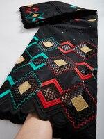 Tela de encaje africano de alta calidad, encaje seco, gasa suiza, bordado en Suiza, tela de encaje de algodón