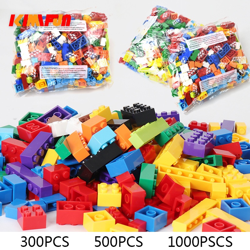 300pcs 500pcs <font><b>1000</b></font> <font><b>Pcs</b></font> Building Blocks Sets City DIY Creative Bricks <font><b>Compatible</b></font> Bricks Educational Kids Toy Blocks Gift For <font><b>Lego</b></font> image