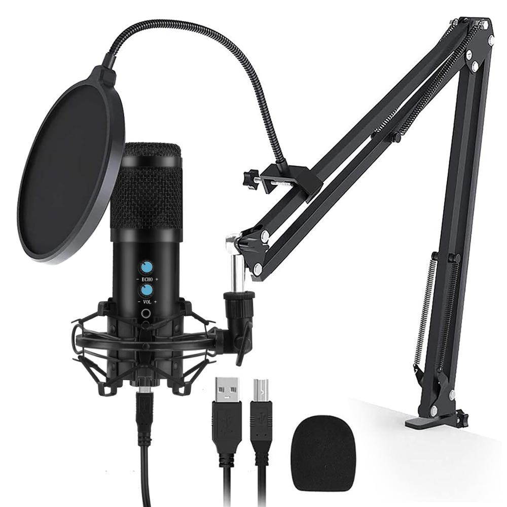 Профессиональный конденсаторный микрофон BM 858 usb микрофон Студийный Запись микрофон для подкастов для компьютера/пк потокового Tiktok