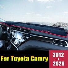 Для Toyota Camry 2012 2013 LHD приборной панели автомобиля крышка коврики Избегайте сенсорные панели защита внутренной стороны аксессуары