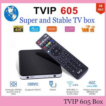 TVIP605 Dispositivo de Tv inteligente 2G 8G S905X soporte IPTV Tvip 605 600 Tvip600 doble sistema Linux o Android OS Set Top Box Android 6,0 caja
