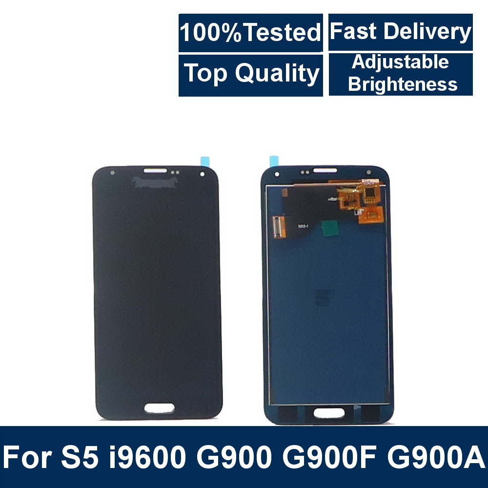100% Tested LCD For Samsung Galaxy S5 i9600 <font><b>G900</b></font> G900F G900A Phone LCDs <font><b>Display</b></font> with Touch Screen Digitizer Assembly Replacement image