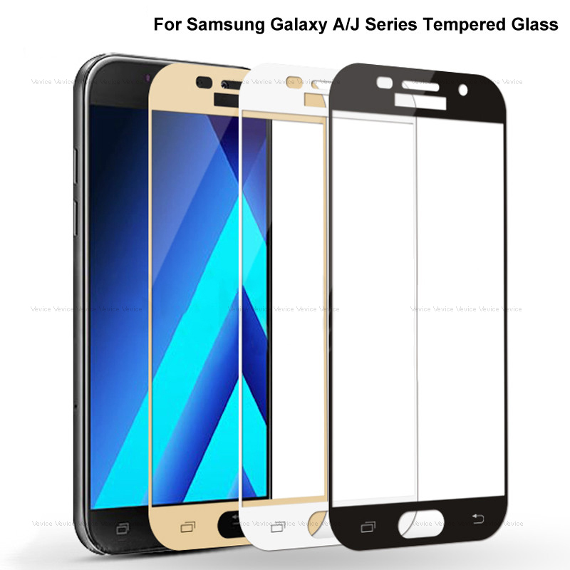 <font><b>Full</b></font> <font><b>Cover</b></font> Tempered <font><b>Glass</b></font> on For <font><b>Samsung</b></font> <font><b>Galaxy</b></font> A3 <font><b>A5</b></font> A7 2017 <font><b>2016</b></font> J3 J5 J7 <font><b>2016</b></font> 2017 A7 2018 Screen Protector Protective Film image