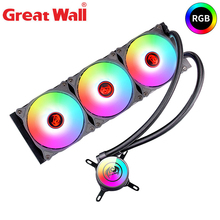 Great Wall CPU Water Cooler RGB Heatsink for Computer Intel LGA 1150 1151 1155 1156 AMD AM4 AM3 FM2 PC Radiator CPU Cooling кулер id cooling se 214l r intel lga 2011 1366 1151 1150 1155 1156 amd fm2 fm2 fm1 am4 am3 am3 am2 am2