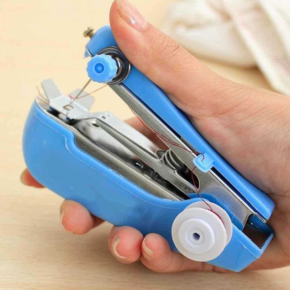 1 шт. портативный мини ручной швейной машинки простое управление швейная инструмент швейная ткань для рукоделия инструментный Карманный пу...