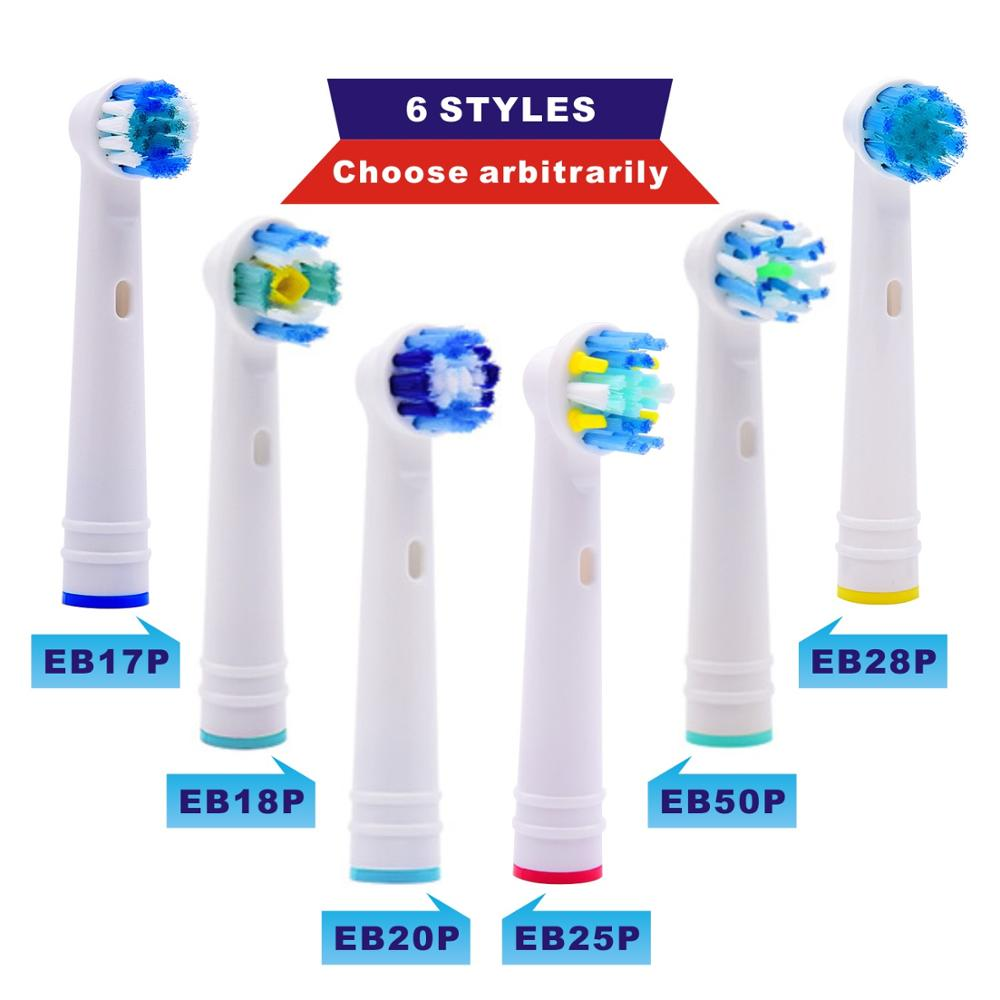 4pcs Replacement Brush Heads For Oral B Electric Toothbrush Advance Power/Pro Health/Triumph/3D Excel/Vitality Precision Clean image