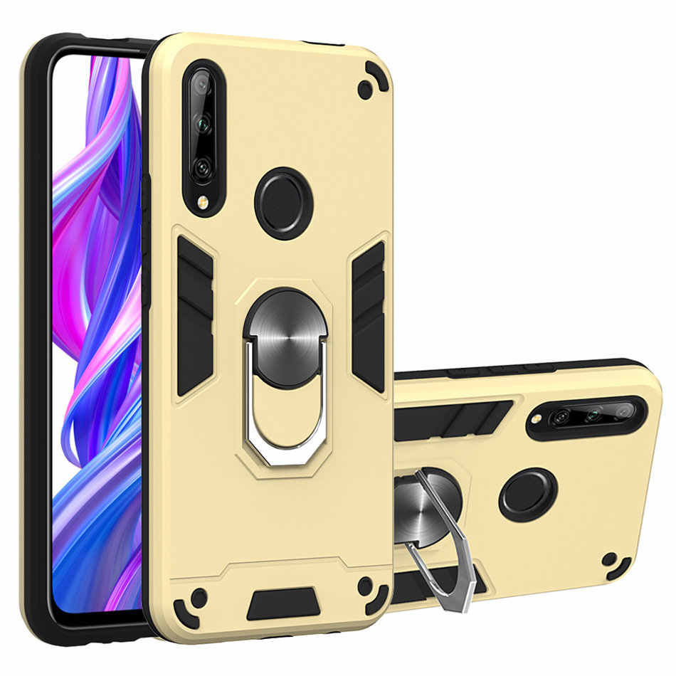 โทรศัพท์มือถือกลับกรณีสำหรับ OPPO F11 Pro A9 F9 A3S A5 A1K A7 A5S A37 Realmi 3 5 Pro 3i X2 Anti-Fall แหวนเกราะ Coque ฝาครอบ D03B