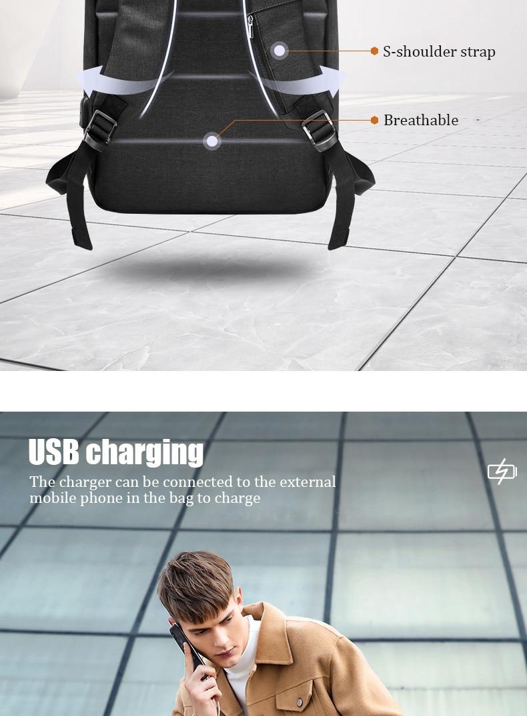 portátil pacote multifuncional mochila para homens mochilas