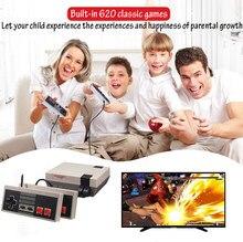 Gebaut-in 620 Klassische Spiele für NES Dual Gamepad Gaming Player Mini TV Handheld Familie Erholung Retro Video Spiel konsole AV-out