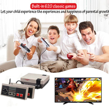 Built-in 620 Classic Games for NES Dual Gamepad Gaming Player Mini TV Handheld Family Recreation Retro Video Game Console AV-out