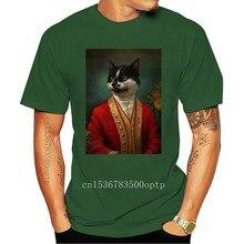 Men Funy T-shirt The Hermitage Court Waiter Cat tshirs Women T Shirt