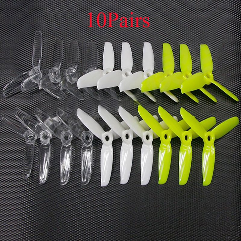 10Pairs <font><b>3052</b></font> Three-blade CW/CCW Paddle 3 Inch PC Propeller 5MM Center Hole for RC FPV Racing Drone 1406 1306 1506 Motor Parts image