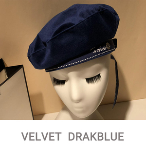Image 4 - 2019 Autumn Winter Woman Hat Fashion Ribbon Bow Beret Letter Embroidery Winter Hats Vintage Male Beret French Hat Navy Cap