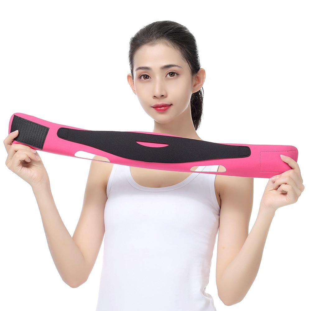 Elastic Face Slimming Bandage V Line Face Shaper Women Chin Cheek Lift Up Belt Facial Massage Strap Face Skin Care Beauty Tools 4