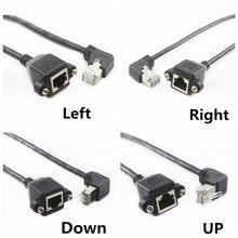 60cm acima para baixo direito esquerdo angulado 90 graus 8p8c ftp stp cat5 rj45 utp com parafuso lan ethernet cabo de extensão de rede 1ft 0.3m