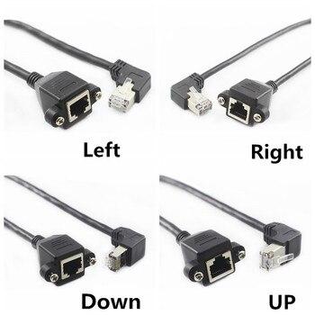60 см вверх вниз вправо влево Угловой 90 градусов 8P8C FTP STP UTP Cat5 RJ45 с винтовым Lan Ethernet Сетевой удлинитель 1ft 0,3 м