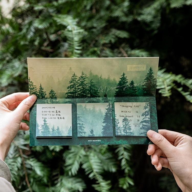 60 lap / csomag csillag erdő téma aranyos memo pad matricák - Jegyzettömbök és füzetek - Fénykép 5