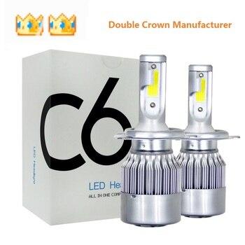 2 PCS Hot-selling C6 car LED headlights eBay Roanson