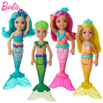 Barbie Dreamtopia Doll Chelsea Mermaid Baby Toys for Girls Little Joint Rainbow Dolls Juguetes Kids Toy Gift Princess Brinquedos недорого