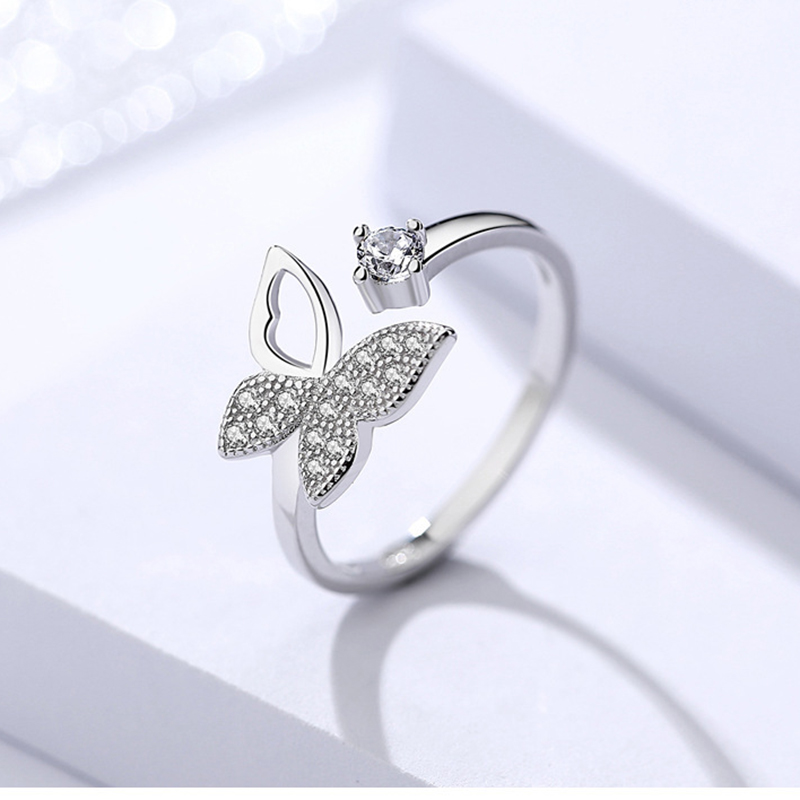 XIYANIKE-925-Sterling-Silver-Hot-Sale-Silver-Color-Butterfly-With-Crystal-Stone-Open-Ring-For-Women (2)