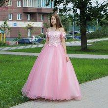 Винтажное бальное платье с аппликацией классическое вечернее