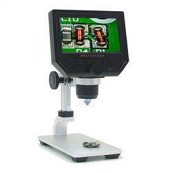 Mustool G600 Digital 1-600X 3.6MP 4.3inch HD LCD Display Microscope Continuous Magnifier with Alloy Stand Upgrade Version