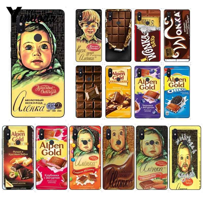 Yinuoda alenka شريط ونكا الشوكولاته كوكه شل حقيبة لهاتف xiaomi mi 6 mi x2 mi x2S 5A 6A 7A الأحمر mi 5 note5 Note7 8pro