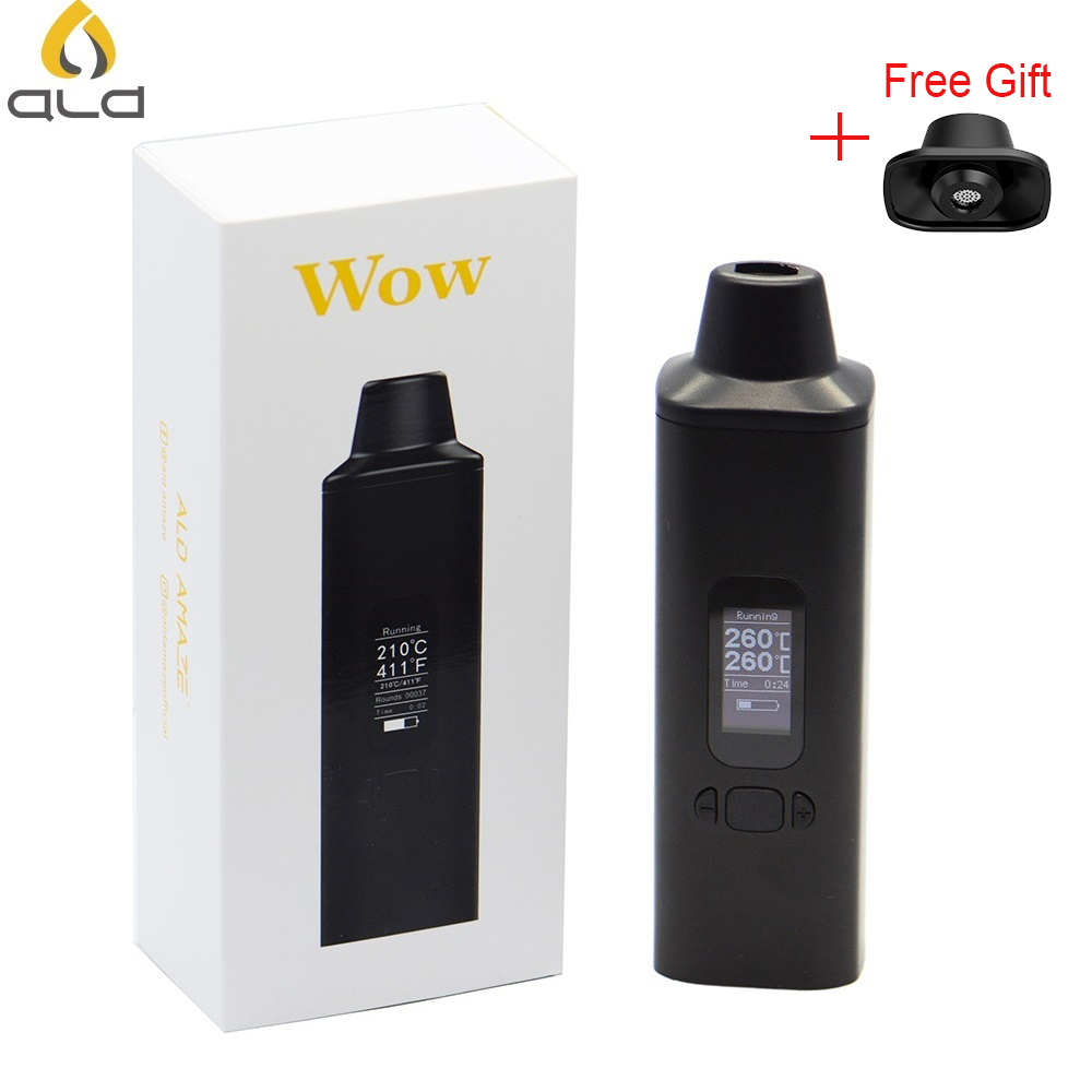ALD AMAZE Wow-V2 Dry Herbal Vaporizer Kit Electronic Cigarettes 1800mAh With OLED Display And Vibrating Alert Dry Herb Vape Pen