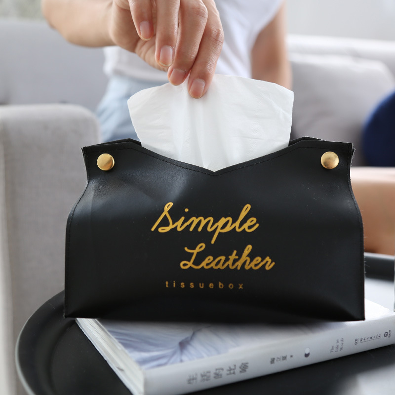 Simple Tissue Case Box Container Leather Retro Toilet Pumping box Car Towel Napkin Papers Bag Holder Box Case Pouch Table Decor