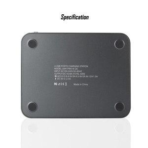 Image 4 - 40W wiele szybka ładowarka USB stacja szybkie ładowanie 3.0 QC3.0 4 porty uniwersalny biurko USB rozdzielacz ładowarki + uchwyt do montażu ue US UK wtyczka