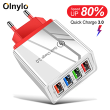 4 Ports USB Charger Quick Charge 3.0 Fast Charging for Xiaomi Mi Note 10 Pro Tab