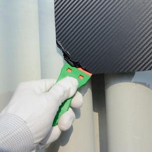 Image 2 - EHDIS 2pcs Glue Sticker Remover Cleaning Razor Scraper+100pcs Plastic Blade Carbon Fiber Vinyl Wrap Film Window Clean Squeegee