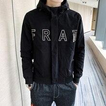 Streetwear Men Hooded Jackets Coat Classic Printing Men's Jackets Windproof M-4XL Men Jackets Coat m 4xl