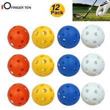 Golf-Balls Wiffle Airflow-Hole Plastic Training Practice Colored Indoor for Kids Men