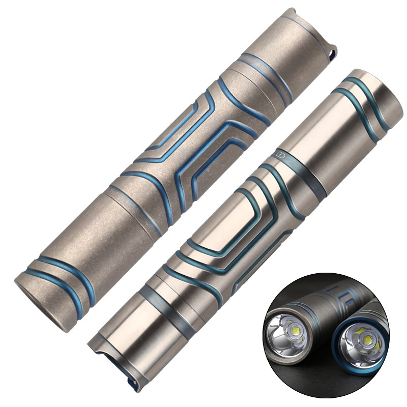 Glare Titanium Tactical Flashlight Waterproof Self Defense Emergency Led Light Rechargeable Battery Outdoor Survival EDC Tool