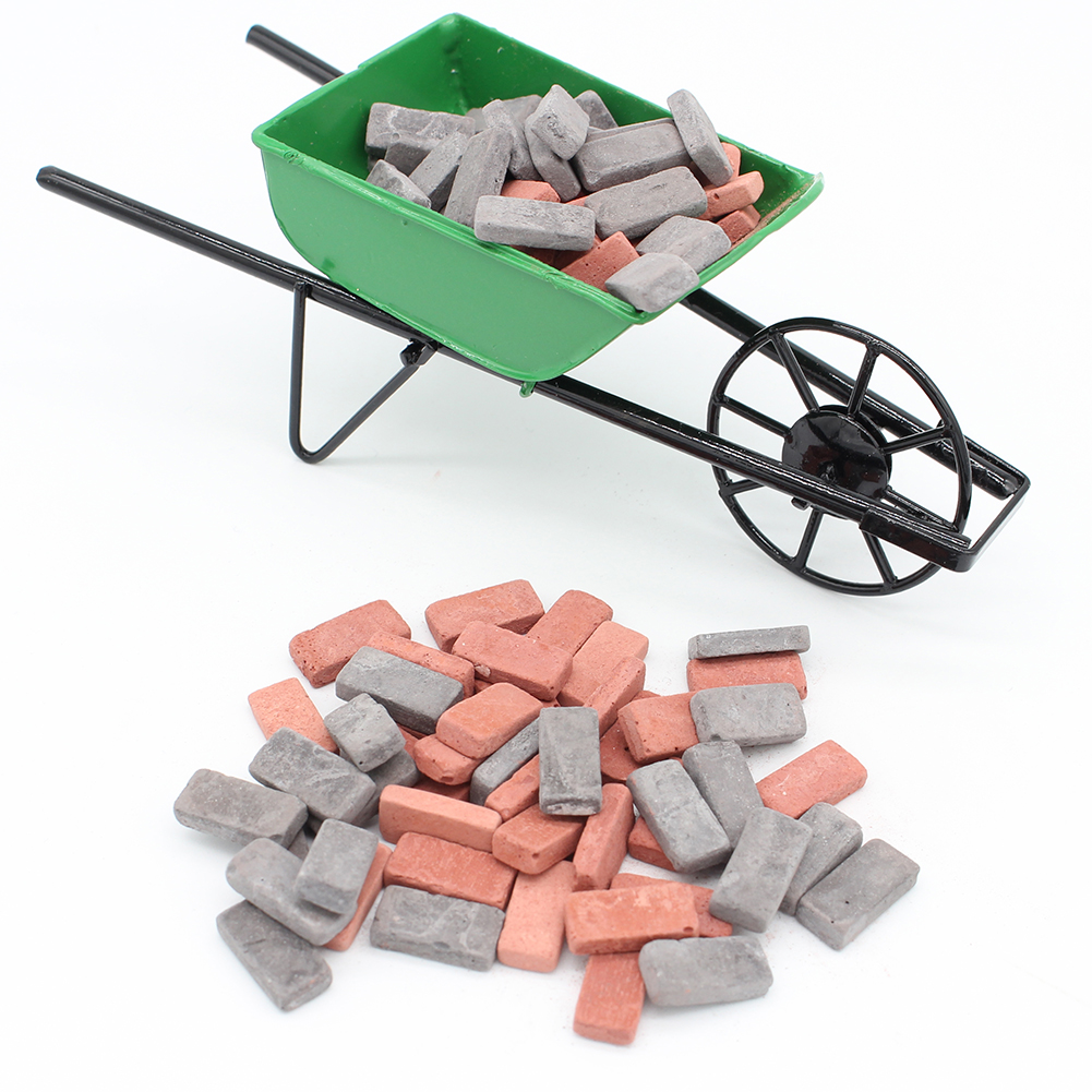 20pcs Toy Houses Props House DIY Flooring Miniature Veneer Brick Cut Stone For Pathing House Miniature DIY Games Accessories